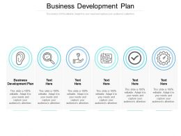 Business Development Plan Ppt Powerpoint Presentation Rules Cpb