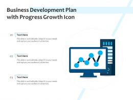 Business Development Plan With Progress Growth Icon