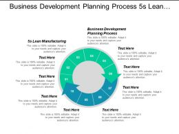 Business Development Planning Process 5s Lean Manufacturing Kaizen Implementation Cpb