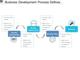 Business Development Process Defines Opportunity Review And Plan