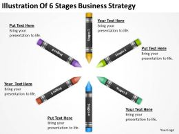 Business Development Process Diagram Illustration Of 6 Stages Strategy Powerpoint Slides