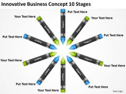 Business Development Process Diagram Innovative Concept 10 Stages Powerpoint Slides