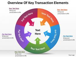 Business Development Process Diagram Overview Of Key Transaction Elements Powerpoint Slides