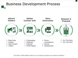 Business Development Process Example Of Great Ppt