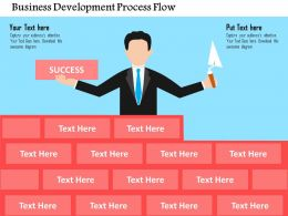 Business Development Process Flow Flat Powerpoint Design