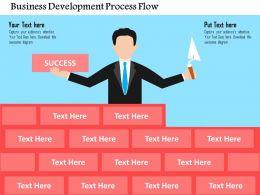 Business Development Process Flow Flat Powerpoint Design