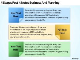 business_development_process_flowchart_post_it_notes_and_planning_powerpoint_templates_Slide01