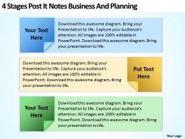 business_development_process_flowchart_post_it_notes_and_planning_powerpoint_templates_Slide01
