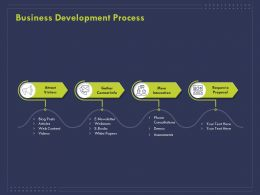 Business Development Process Ppt Powerpoint Presentation Portfolio Slide Portrait