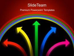 Business Development Process Presentation Colored Arrows Ppt Slides Powerpoint