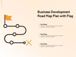 Business Development Road Map Plan With Flag