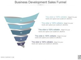 Business Development Sales Funnel Presentation Images