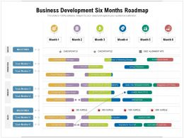 Business Development Six Months Roadmap