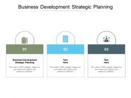 Business Development Strategic Planning Ppt Powerpoint Presentation Ideas Cpb