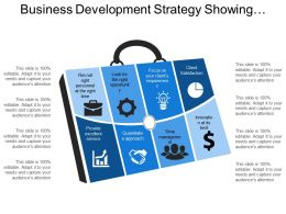 Business Development Strategy Showing Quantitative Approach Client Satisfaction