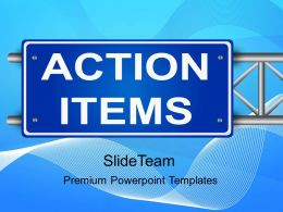 Business Development Strategy Template Templates Action Items Ppt Slides Powerpoint
