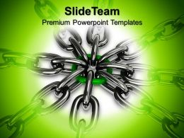 Business Development Strategy Template Templates Chain Security Teamwork Ppt Powerpoint