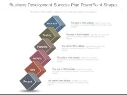 Business Development Success Plan Powerpoint Shapes