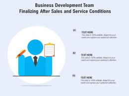 Business Development Team Finalizing After Sales And Service Conditions