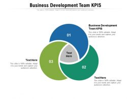 Business Development Team Kpis Ppt Powerpoint Presentation Layouts Show Cpb