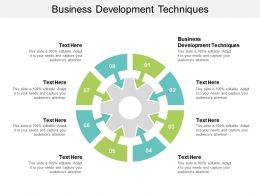 Business Development Techniques Ppt Powerpoint Presentation Icon Inspiration Cpb