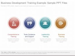 Business Development Training Example Sample Ppt Files