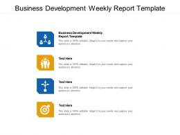 Business Development Weekly Report Template Ppt Powerpoint Presentation Cpb