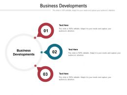 Business Developments Ppt Powerpoint Presentation Gallery Outline Cpb