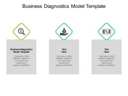Business Diagnostics Model Template Ppt Powerpoint Presentation Charts Cpb