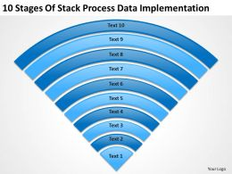 Business Diagram 10 Stages Of Stack Process Data Implementation Powerpoint Slides