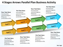 Business Diagram Chart 4 Stages Arrows Parallel Plan Activity Powerpoint Slides