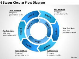 Business Diagram Chart 6 Stages Circular Flow Powerpoint Templates