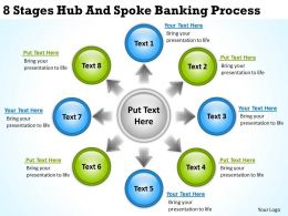 Business Diagram Chart 8 Stages Hub And Spoke Banking Process Powerpoint Slides
