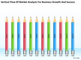 Business Diagram Chart Flow Of Market Analysis For Growth And Success Powerpoint Slides