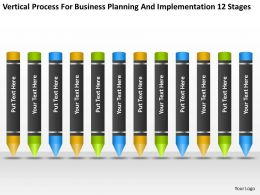 Business Diagram Chart Process For Planning And Implementation 12 Stages Powerpoint Slides