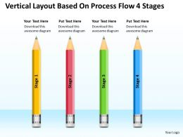 Business Diagram Chart Vertical Layout Based On Process Flow 4 Stages Powerpoint Slides