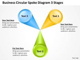 Business Diagram Circular Spoke 3 Stages Powerpoint Templates