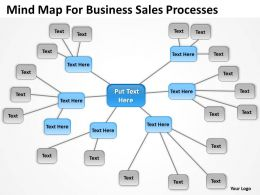 Business Diagram Examples Mind Map For Sales Processes Powerpoint Templates 0523