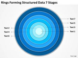 Business Diagram Examples Rings Forming Structured Data 7 Stages Powerpoint Slides