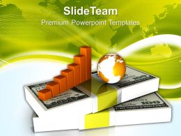 Business Diagram With Dollars And Globe Powerpoint Templates Ppt Themes And Graphics 0213