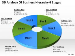 Business Diagrams 3d Analogy Of Hierarchy 6 Stages Powerpoint Templates