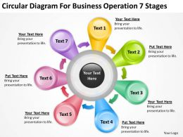 Business Diagrams Circular For Operation 7 Stages Powerpoint Slides 0522