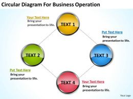 Business Diagrams Circular For Operation Powerpoint Slides 0522