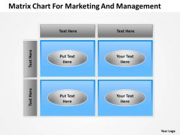 Business Diagrams Matrix Chart For Marketing And Managment Powerpoint Slides 0515