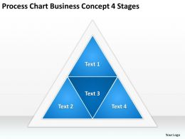Business Diagrams Process Chart Concept 4 Stages Powerpoint Slides