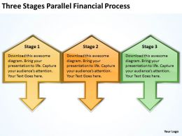 Business Diagrams Stages Parallel Financial Process Powerpoint Templates PPT Backgrounds For Slides