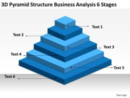 Business Diagrams Templates 3d Pyramid Structure Analysis 6 Stages Powerpoint