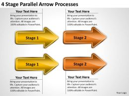 Business Diagrams Templates 4 Stage Parallel Arrow Processes Powerpoint