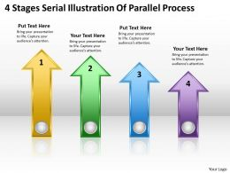 Business Diagrams Templates 4 Stages Serial Illustration Of Parallel Process Powerpoint