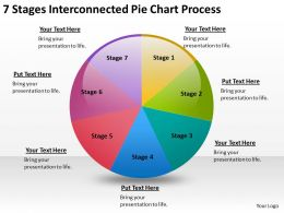 Business Diagrams Templates 7 Stages Iinterconnected Pie Chart Process Powerpoint